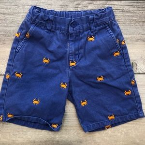 JANIE and JACK size 3 blue crab shorts